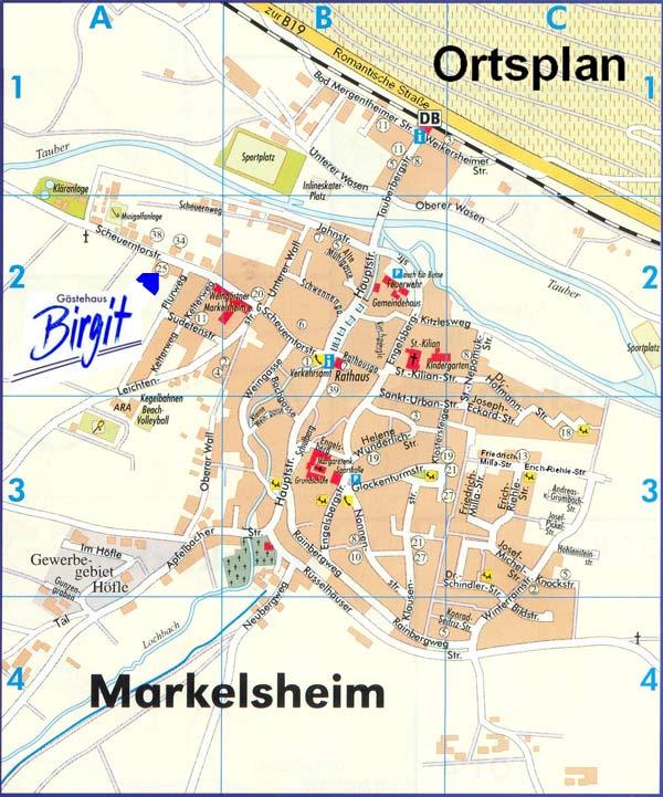 Ortsplan Markelsheim